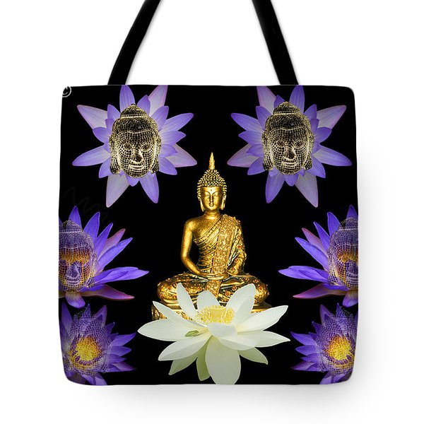 Spiritual Water Lilly Tote Bag
