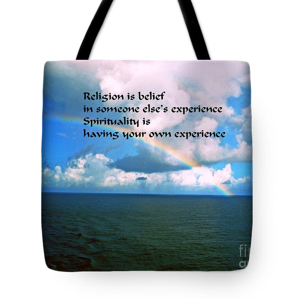 Tote Bag featuring the photograph Spirituality by Gary Wonning