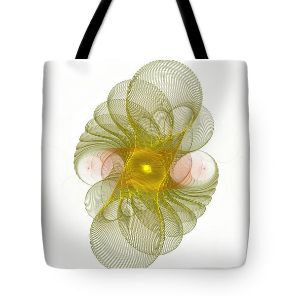 Tote Bag featuring the digital art Spiro-girations by Richard Ortolano