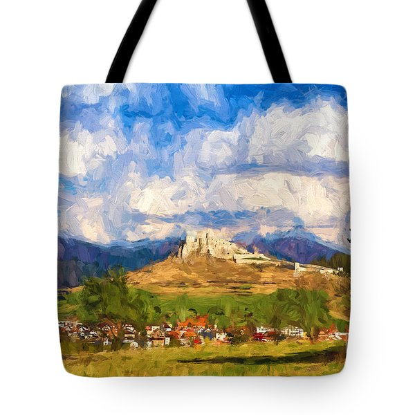 Castle Above The Village Tote Bag