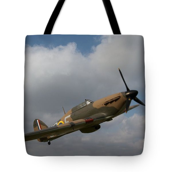 Tote Bag featuring the photograph Spitfire by Gary Bridger