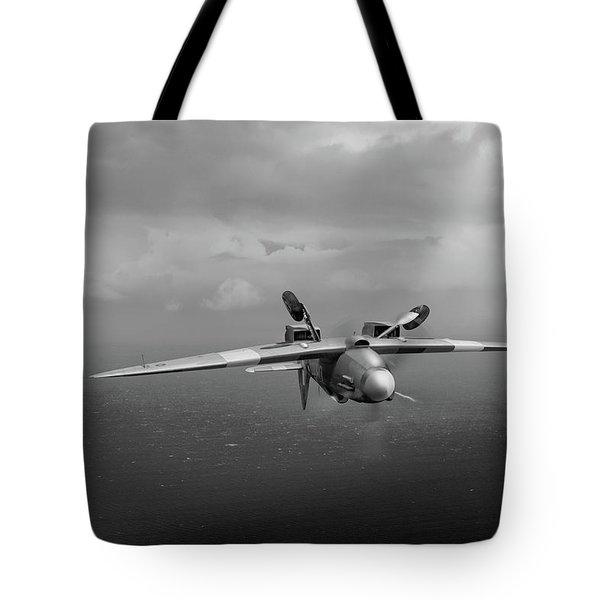 Tote Bag featuring the photograph Spitfire Pr Xix Ps915 Inverted by Gary Eason