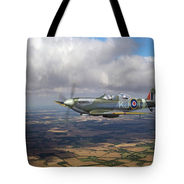 Tote Bag featuring the photograph Spitfire Tr 9 Sm520 by Gary Eason
