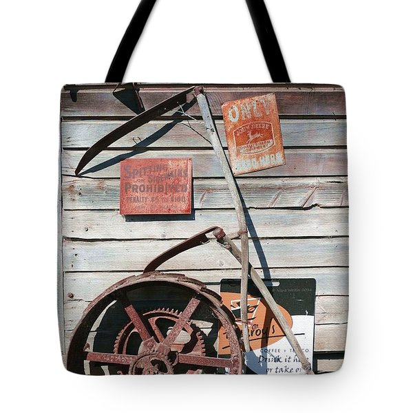 Tote Bag featuring the photograph Spitting Prohibited by Ivana Westin