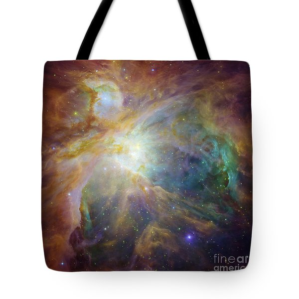 Spitzer And Hubble Create Colorful Masterpiece Tote Bag