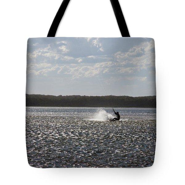 Tote Bag featuring the photograph Splash At Lake Wollumboola by Miroslava Jurcik