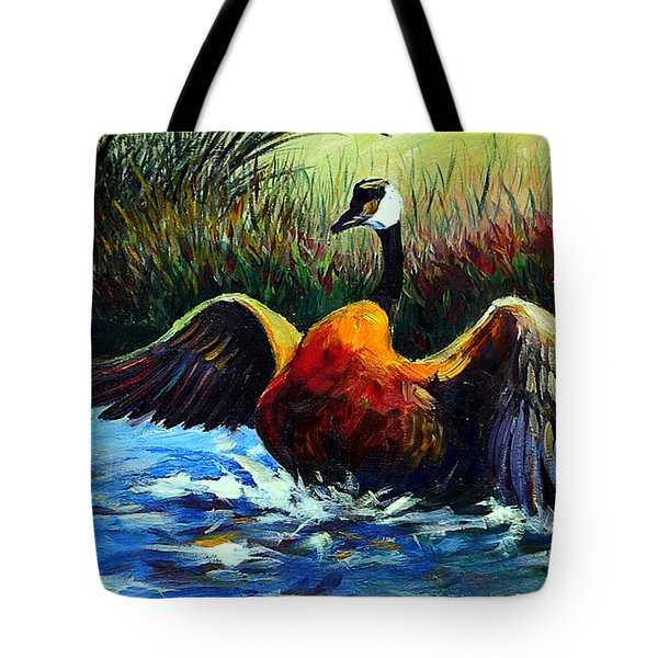 Splash Dance Tote Bag