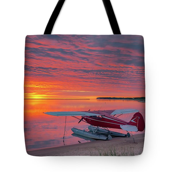 Splash-in Sunrise Tote Bag