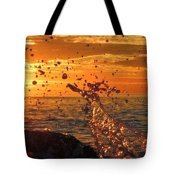 Splash Tote Bag by Linda Hollis