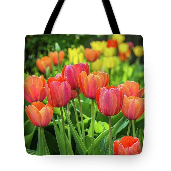 Tote Bag featuring the photograph Splash Of April Color by Bill Pevlor