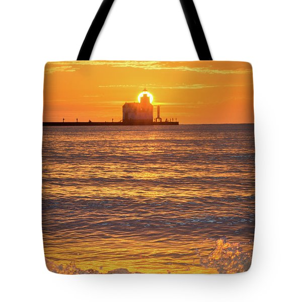Tote Bag featuring the photograph Splash Of Light by Bill Pevlor