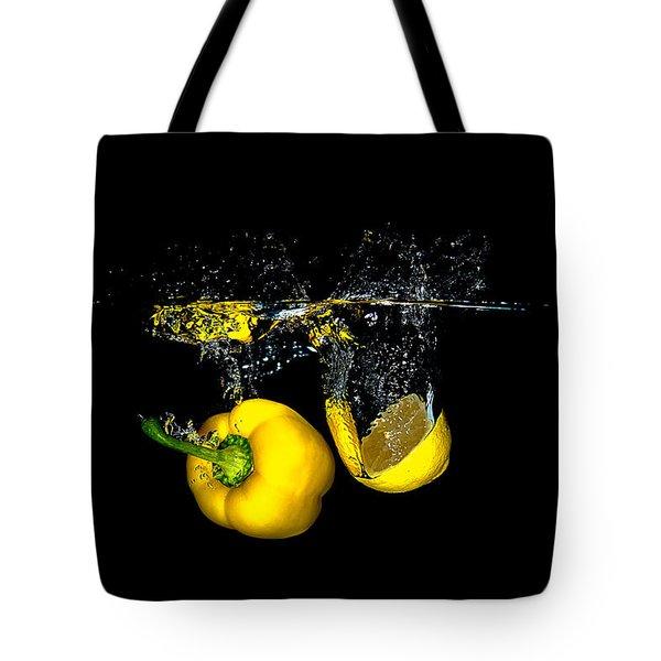 Splash Of  Pepper And Lemon Tote Bag