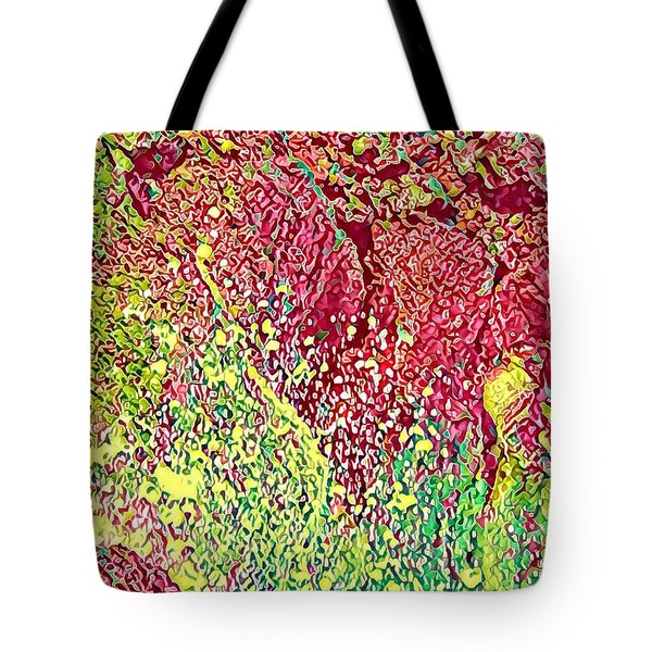 Splash Of Red - Heart Of Pele Tote Bag