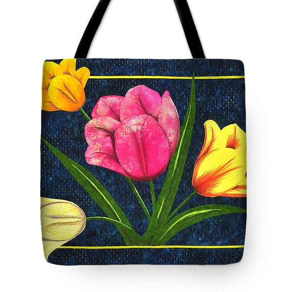 Splash Of Tulips Tote Bag