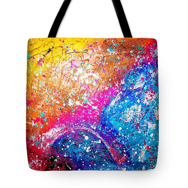 Tote Bag featuring the painting Splash by Piety Dsilva