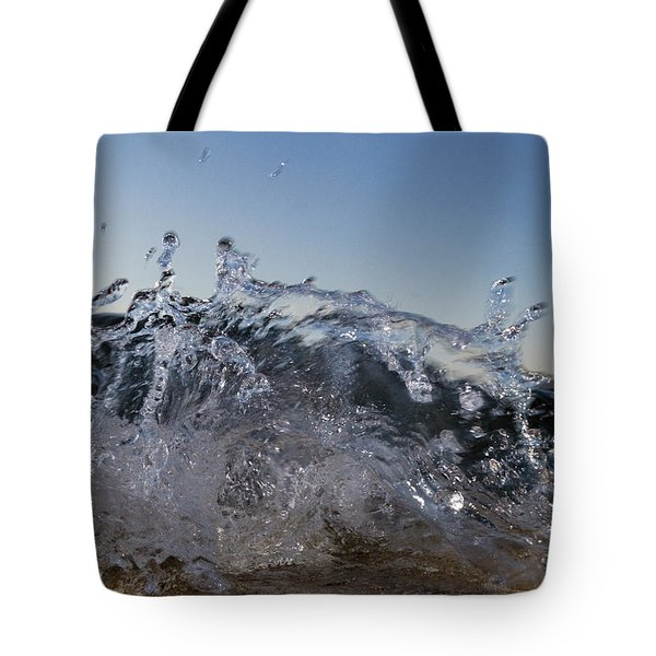 Tote Bag featuring the photograph Splash by Rico Besserdich