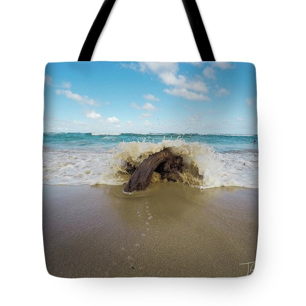 Tote Bag featuring the photograph Splash by T A Davies