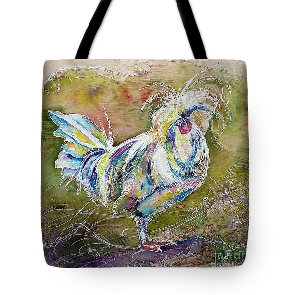 Splash White Polish Chicken Tote Bag
