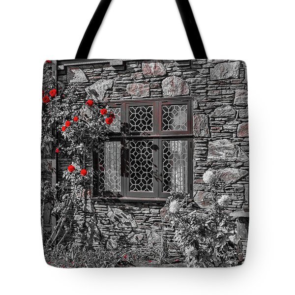 Tote Bag featuring the photograph Splashes Of Red by Elaine Teague