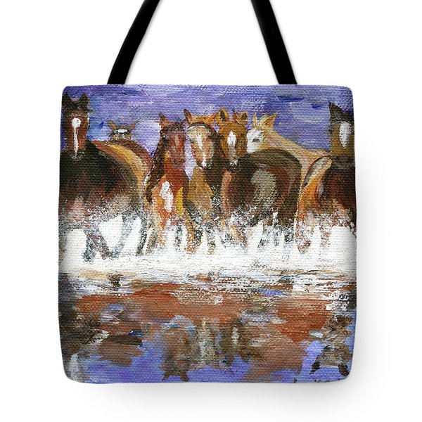Tote Bag featuring the painting Splashing Around by Jamie Frier