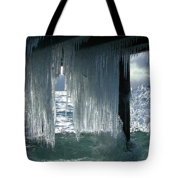 Splash...storm Sunset Tote Bag by Sean Sarsfield