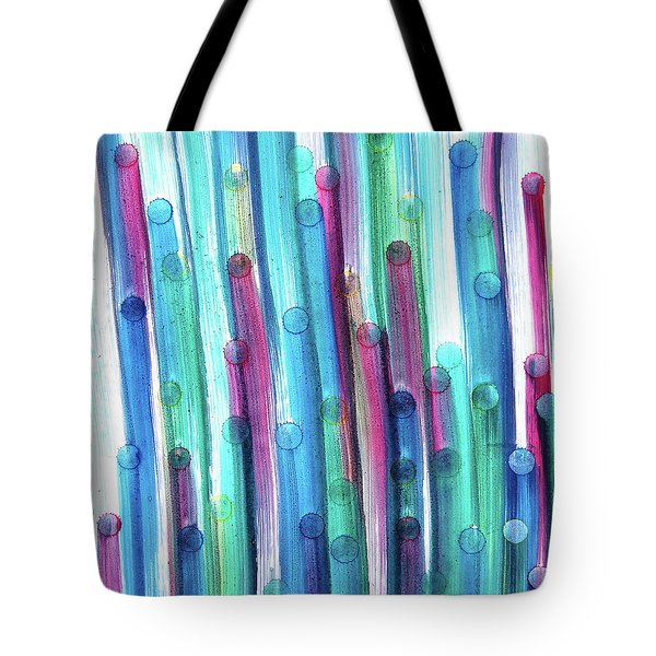 Tote Bag featuring the painting Splatterdash by Tom Druin