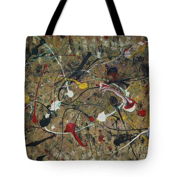 Tote Bag featuring the painting Splattered by Jacqueline Athmann