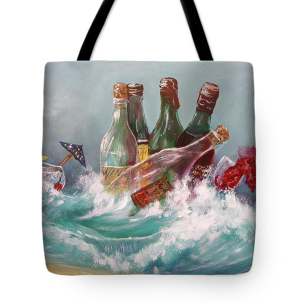 Splattered Wine Tote Bag