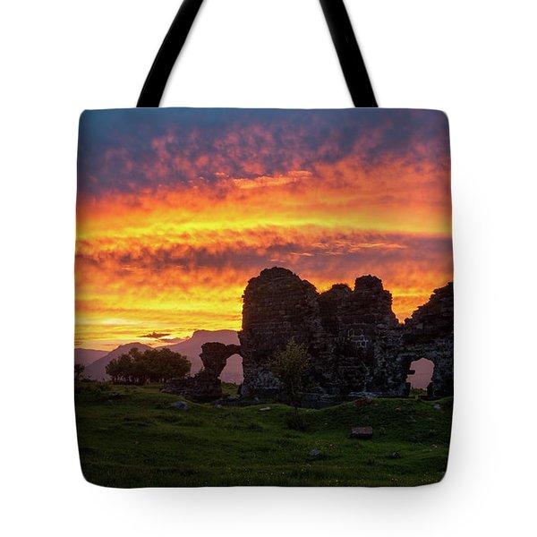 Splendid Ruins Of Tormak Church During Gorgeous Sunset, Armenia Tote Bag