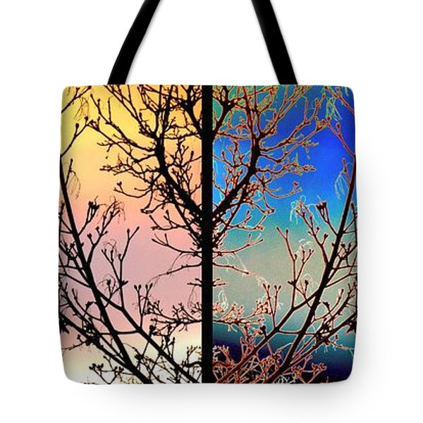 Tote Bag featuring the digital art Splendid Spring Fusion by Will Borden