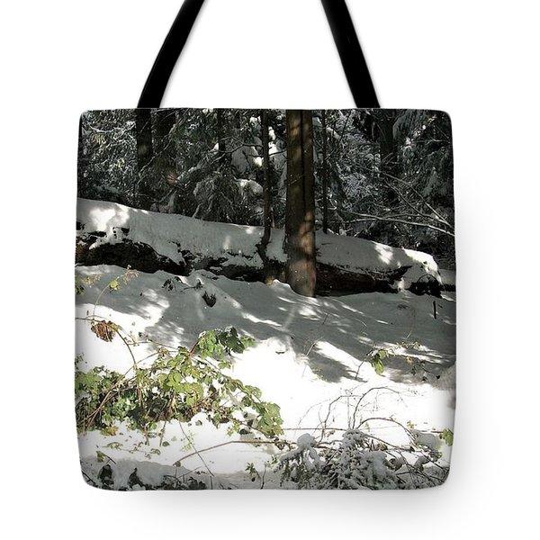 The Splendour Of Snow Tote Bag