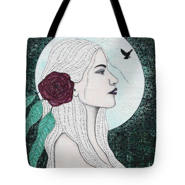 Tote Bag featuring the mixed media Splendour by Natalie Briney