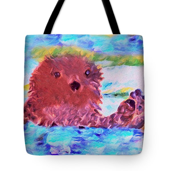 Splish Splash Tote Bag by David Millenheft