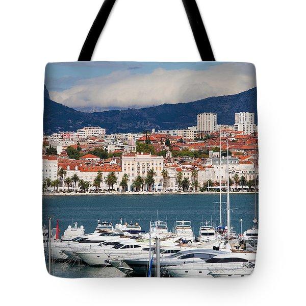 Split Cityscape Tote Bag