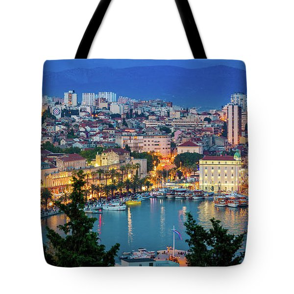 Split Evening Panorama Tote Bag