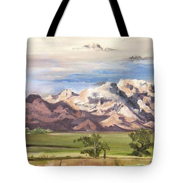 Split Mountain Tote Bag