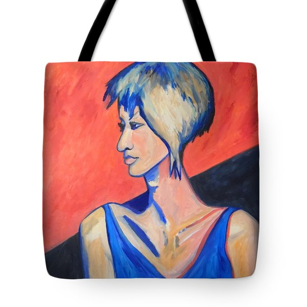 Tote Bag featuring the painting Split Personality by Esther Newman-Cohen
