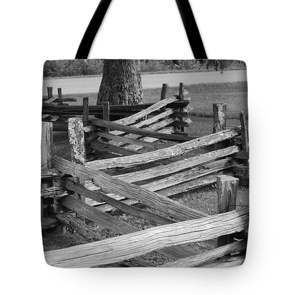 Tote Bag featuring the photograph Split Rail Fence by Eric Liller