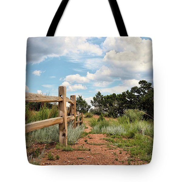 Split Rail Fence Tote Bag