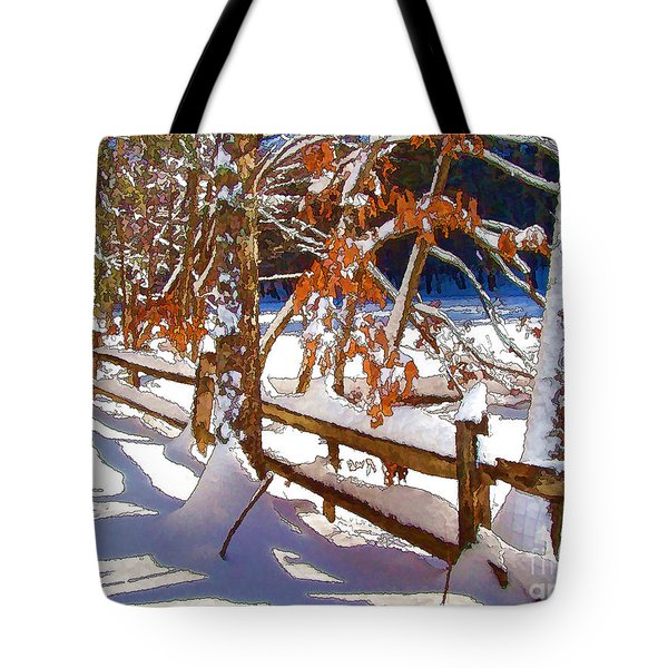 Split Rails Tote Bag