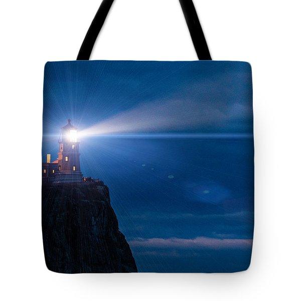 Split Rock Beacon Tote Bag by Mark Goodman