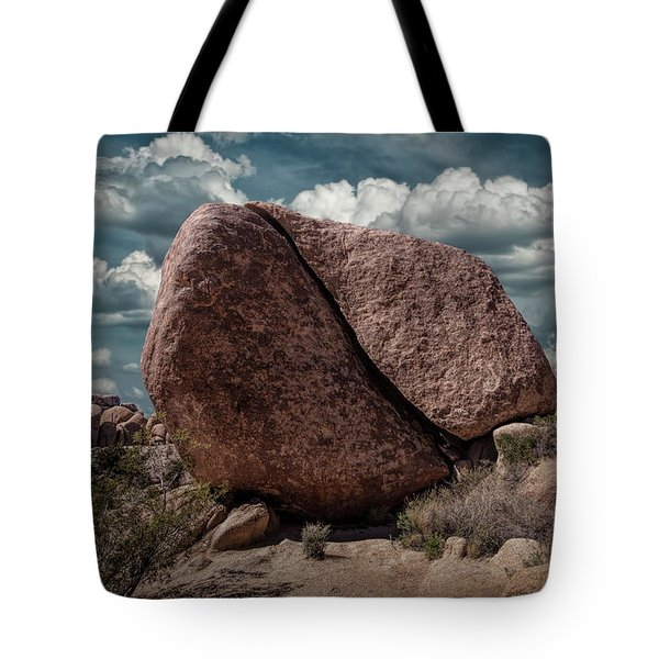 Tote Bag featuring the photograph Split Rock In Joshua Tree National Park by Randall Nyhof