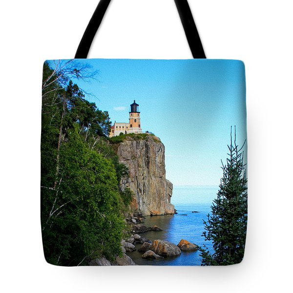 Split Rock Lighthouse Tote Bag