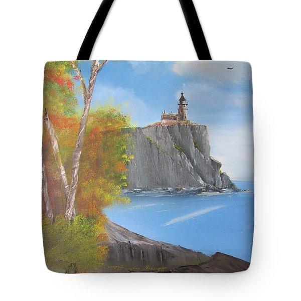 Split Rock Lighthouse Minnesota Tote Bag