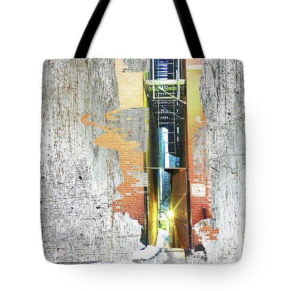 Tote Bag featuring the mixed media Split by Tony Rubino