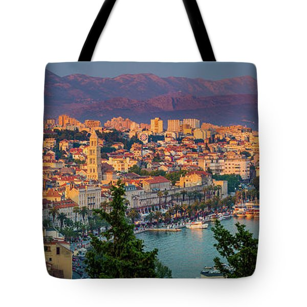 Split Twilight Panorama Tote Bag