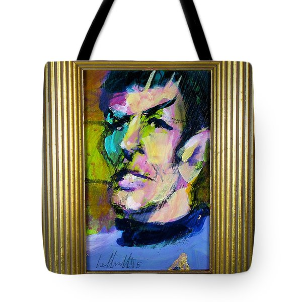 Tote Bag featuring the painting Spock by Les Leffingwell