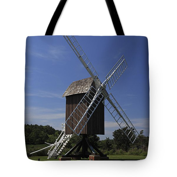 Tote Bag featuring the photograph Spocott Windmill by ELDavis Photography