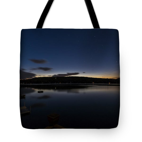 Tote Bag featuring the photograph Spofford Lake Dawn by Tom Singleton