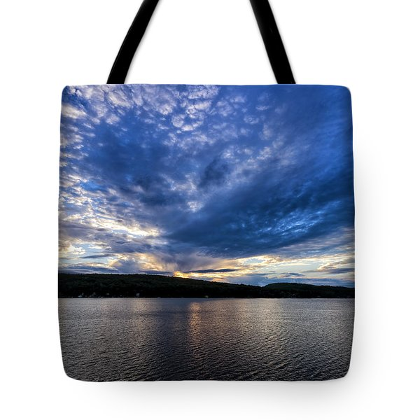 Tote Bag featuring the photograph Spofford Lake Sunrise by Tom Singleton